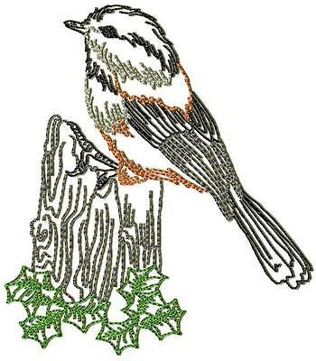 Chickadee Birds 10 Machine Embroidery Designs Cd 2 Sizes