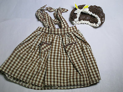 American Girl Addy Birthday Outfit partial set NEW  RETIRED snood & pinafore