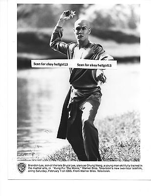 KUNG FU BRANDON LEE THE MOVIE SON OF BRUCE ORIGINAL VINTAGE glossy b&w tv photo