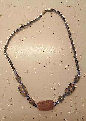 Nigerian Glass Agate Animal Print Necklace Jewelry/African