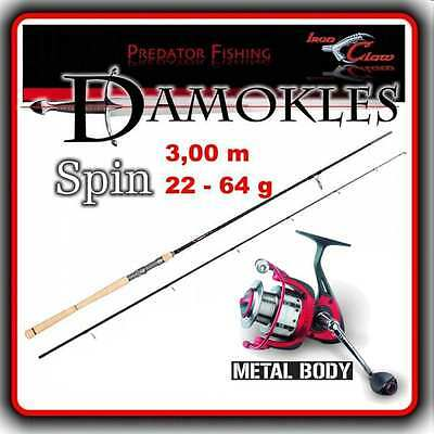 Iron Claw DAMOKLES RS MH 3,00m + Quantum Alloy FD Top Spinnangel SET