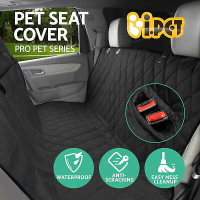 i.Pet Waterproof Pet Cat Dog Car Back Seat Cover Hammock Protector Mat Black