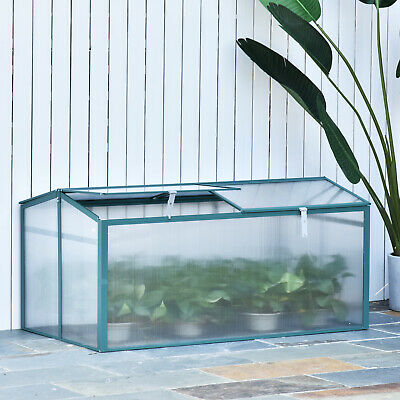 Large Garden Cold Frame Plant Grow Greenhouse Raised Flower Planter Bed Aluminum