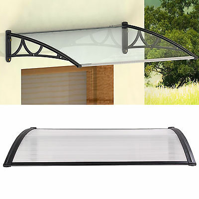Door Canopy Opaque Corrugated Awning Shelter Roof Front Back Porch Outdoor Shad
