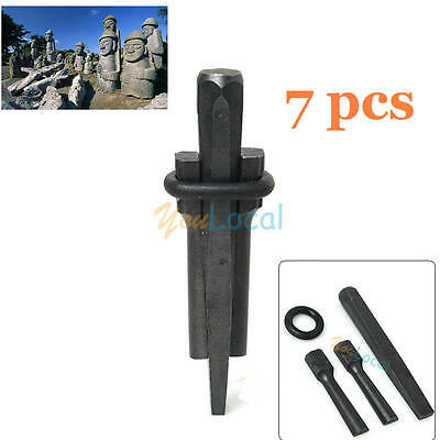 7x Plug Wedge and Feathers Shims Quarry Rock Stone Splitter Hand Tool 5/8'' 16m