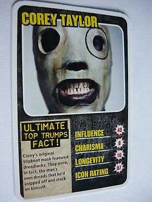 Corey Taylor (Slipknot) - Kerrang Top Trumps Card