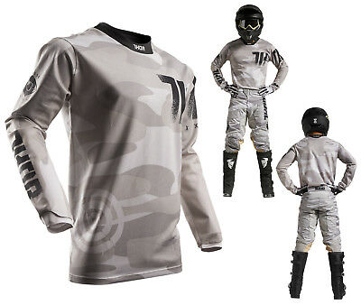 Thor MX Jersey Pulse Air Covert MX Shirt für Motocross Enduro camo M
