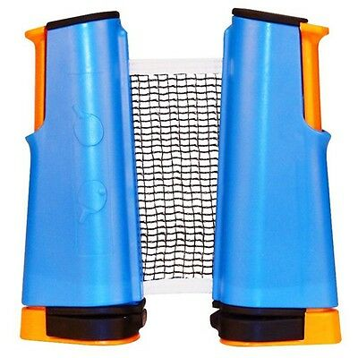 New Get & Go Roll Up Table Tennis Net Cobalt Blue/Orange/Black 61TT Extendable