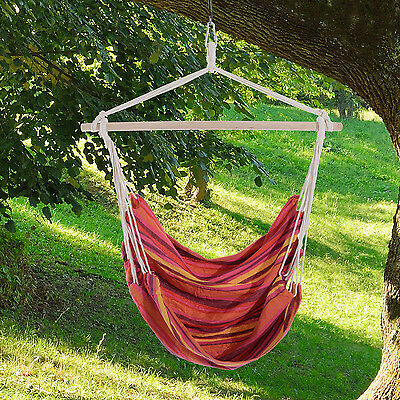 Outsunny Hammock Chair Hanging Swing Seat Outdoor Indoor Camp Air Cotton Rope