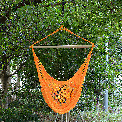Outsunny Hammock Chair Leisure Swing Hanging Woven Nylon Camping Porch Air Tree