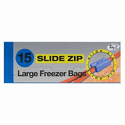 Tidy Z 15 Slide Zip Large Fridge Freezer Food Bags Strong Resealable 22cm X 22cm