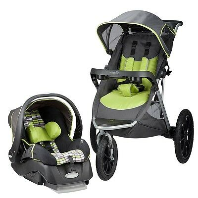 Evenflo Victory Jogging Travel System with Embrace LX Infant Car Seat