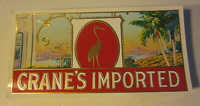 Lot of 100 Original Old Antique CRANE'S IMPORTED - CIGAR End LABELS Crane / Bird
