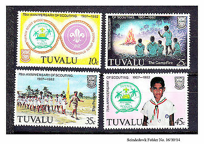 Tuvalu - 1982 - 75Th Anniversary Of Scouting - 4V Mint Nh