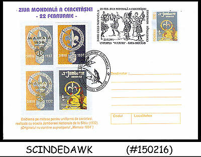 Romania - 2001 World Day Of Scouts Special Envelope With Special Cancl.