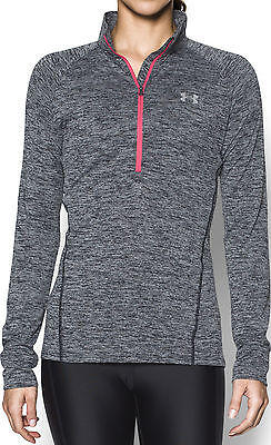 Under Armour Tech Twist Half Zip Ladies Running Top - Black