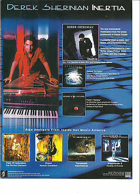 Derek Sherinian, Dream Theater, Inertia, Full Page Promotional Ad