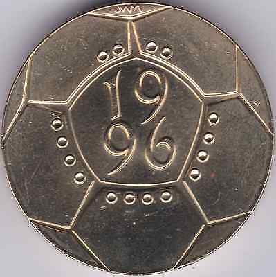 1996 Uncirculated £2 Two Pound Coin  Football Euro 96 21st Birthday MINT SCARCE