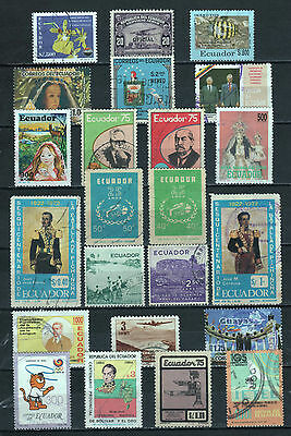 "R/al16757, LOT OF 23 USED STAMPS OF ""ECUADOR"", ALL DIFFERENT"