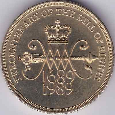 1989 Uncirculated £2 Two Pound Coins Tercentenary of Bill of Rights MINT SCARCE