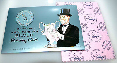 Town Talk Silver Jewellery Cleaning & Polishing Cloth Brand New, Gift