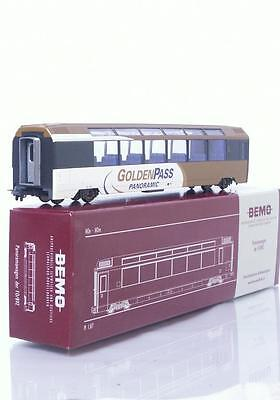 "MINT BEMO 3288 312 HOm - SWISS ""GOLDEN PASS"" PANORAMA PASSENGER CAR MOB Bs 252"