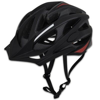 #s Bicycle Helmet with Removable Visor In-mould Black-Red M 55-58cm Adjustable