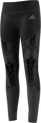 adidas Tech-Fit WOW Girls Running Tights - Black
