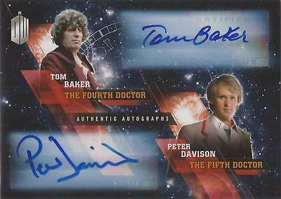 """Doctor Who Timeless: Dual Autograph Card Tom Baker & Davison """"4th & 5th Doctors"""""""