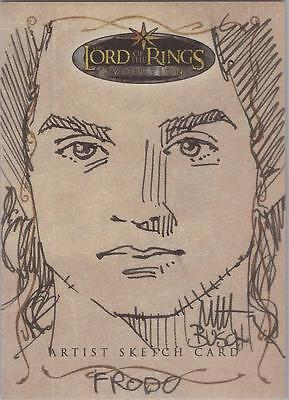 "Lord of the Rings Evolution - Matt Busch ""Frodo"" Sketch Card"