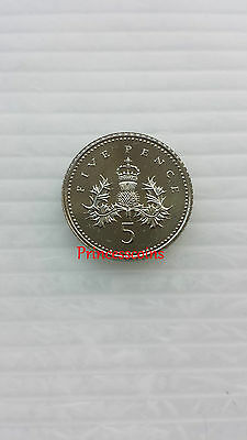 Key Date*1993*unc*uk Badge Of Scotland 5P Five Pence Coin-