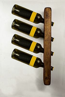 Wooden Wine Bottle Holder Rack Wall Mounted Kitchen Restaurants Bars