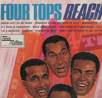 The Four Tops - 'Reach Out' 1967 UK Tamla LP. VG!