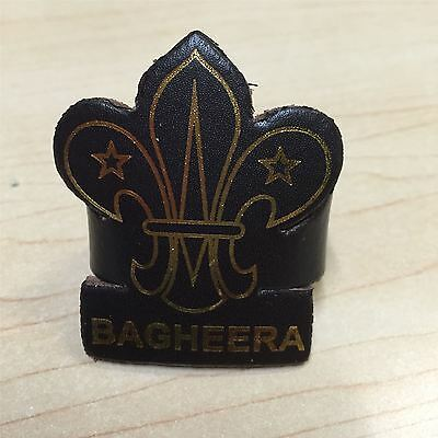 Cub Scout Leader and Assistant Leather Woggle Bagheera