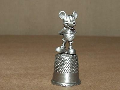 Vintage Disney Pewter Thimble with Mickey Mouse Standing on it