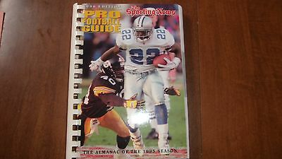 1996 The Sporting News Pro Football Guide---Emmitt Smith on Cover-- Comb Bound