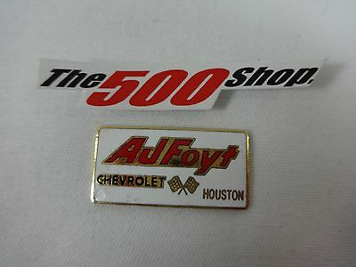 Pin Cut Off AJ Foyt Chevrolet Houston Collector Pin Indianapolis 500 IndyCar
