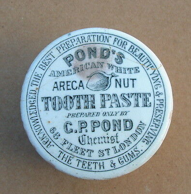 Ponds Areca Nut Tooth Paste Pot Lid With  Nut Image.
