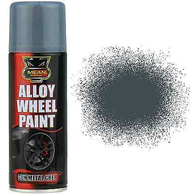 1 x 200ml Gun Metal Grey Alloy/Steel Wheel Aerosol Spray Paint Restore Car Auto