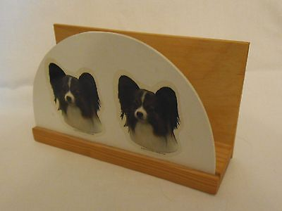 PAPILLON LETTER RACK Butterfly dog STORE DOG SHOW SCHEDULES or other papers