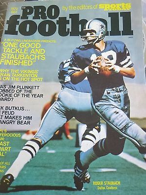 1972 Sports Today Pro Football Magazine Roger Staubach Cover