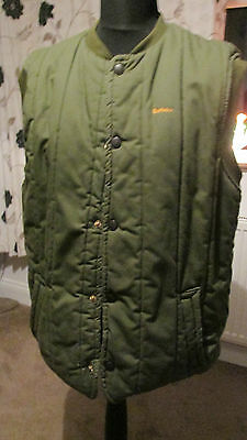 barbour quilted gilet mens press studs down the front size large 2 pockets