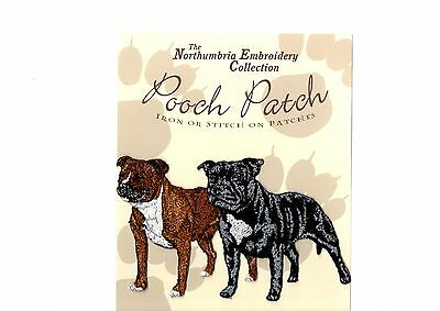 Staffordshire Bull Terrier   EMBROIDERED  Pooch Patch