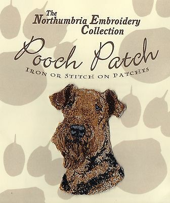 Airedale Terrier  EMBROIDERED Pooch Patch