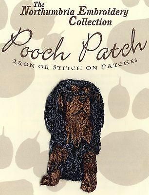 Cavalier King Charles Black & Tan  EMBROIDERED Pooch Patch