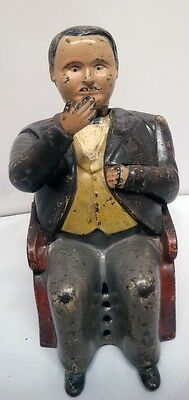 Cast Iron Tammany Mechanical Bank Antique Americana Toy