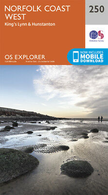 Norfolk Coast West Explorer Map 250 Ordnance Survey