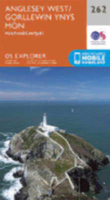 Anglesey West Explorer Map 262 Ordnance Survey