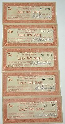 1933 Clay County, Kansas 5cent Script  5  Paper Notes
