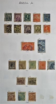 Brazil -Page of 22 x F/Used Early Issues from 1906 on